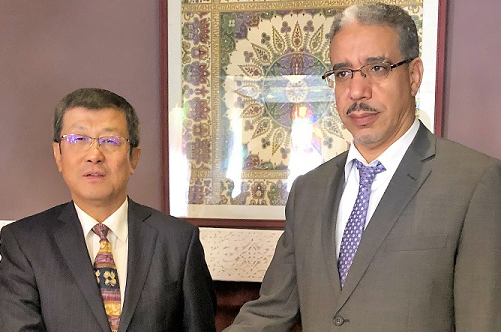 Dr Sun with HE Minister Aziz Rabbah, Minister of Energy, Mines, and Sustainable Development, Morocco