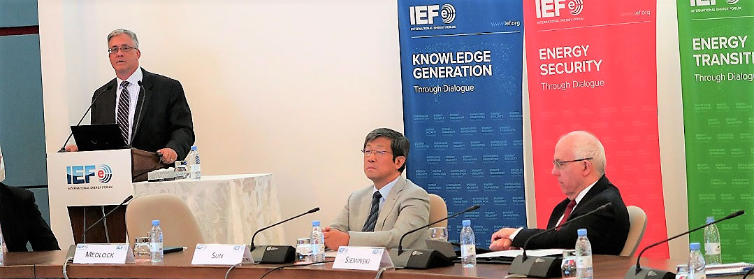 Dr Kenneth B Medlock III presenting at IEF Lecture: Prospects for US Oil and Gas Exports