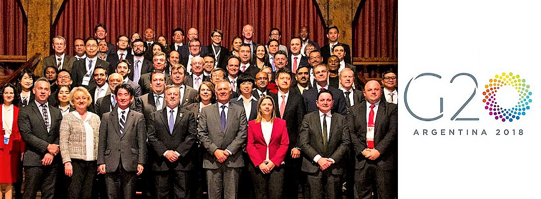 Group photo banner for G20 Argentina 2018
