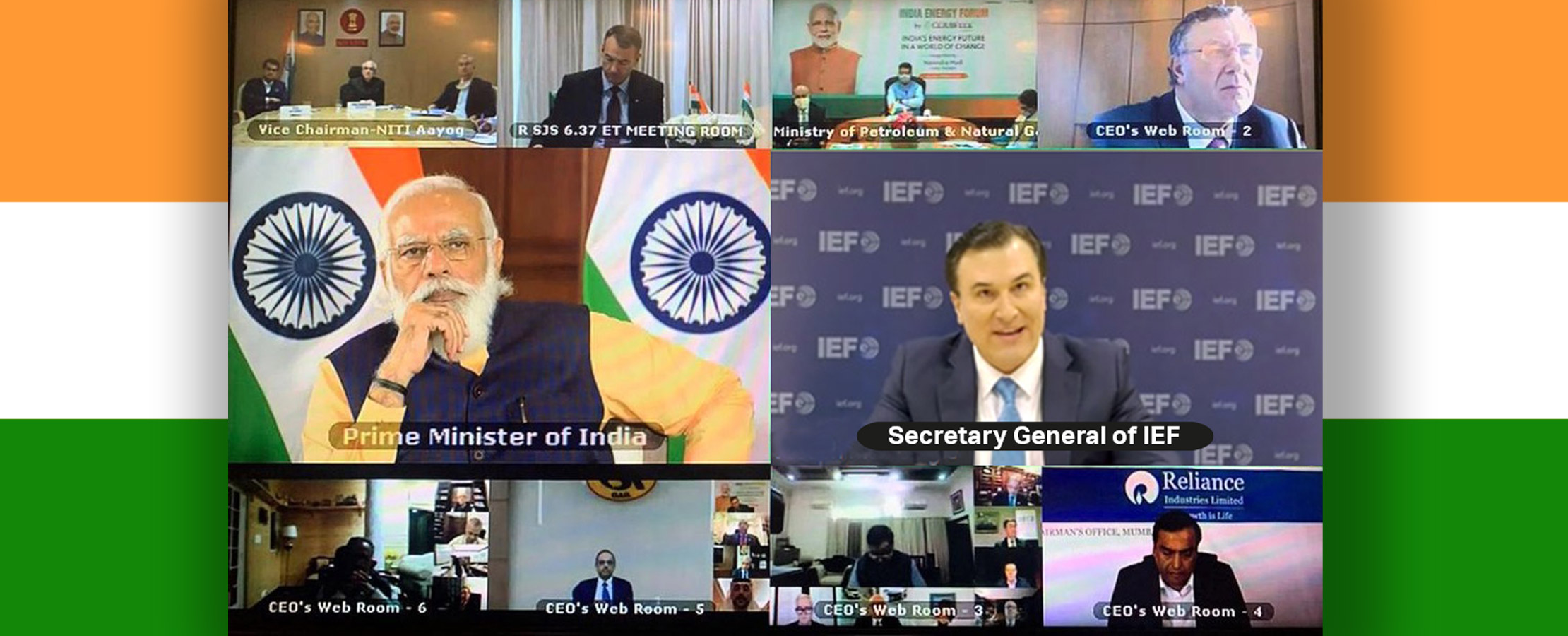 Secretary General Participates in India Energy Forum Global CEO Roundtable with Prime Minister Modi